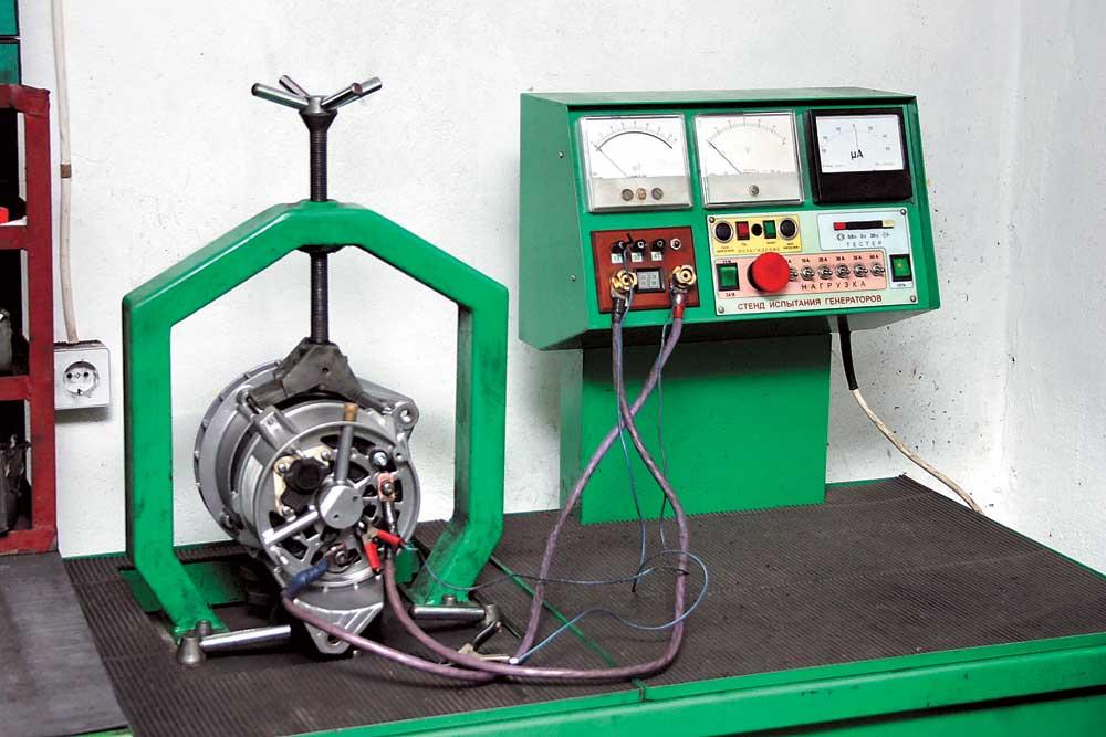 Стенд для испытания генераторов и стартеров