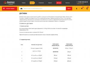 Агатол - страница доставки