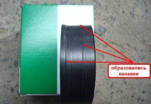 Дефекты на поверхности ролика натяжителя