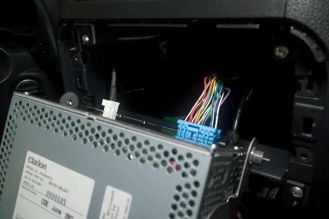 Извлечение магнитолы для подключения AUX