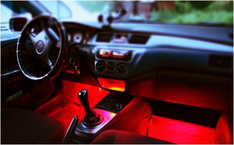Освещение салона авто