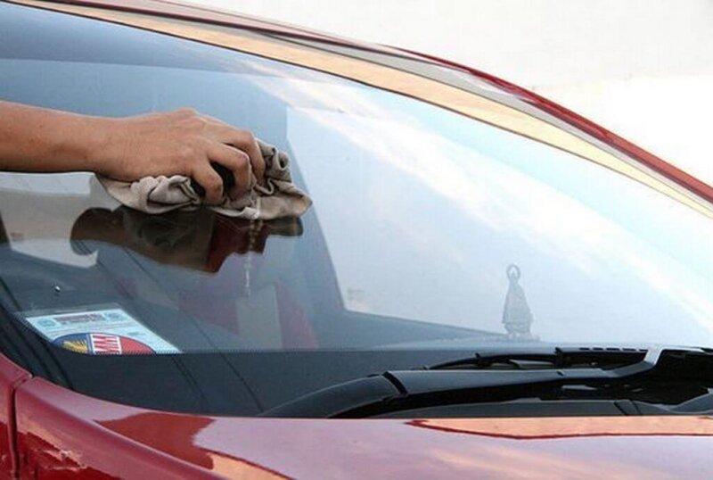 Подготовка автомобиля к нанесению антидождя