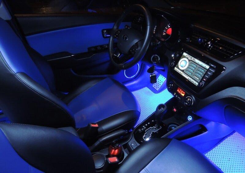Подключение подсветкы в авто