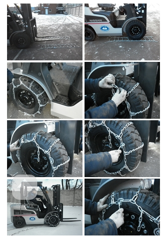 Схема установки цепей