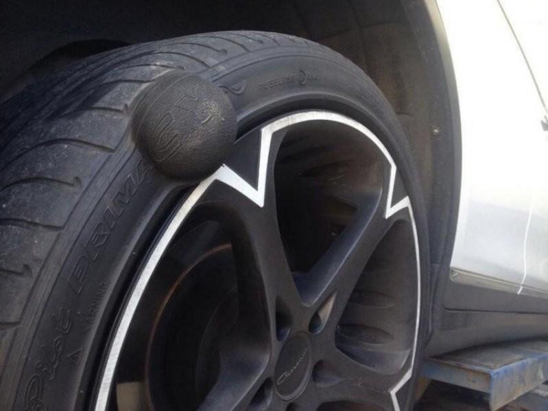 колесо с грыжей