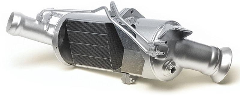 сажевый фильтр на дизельном двигателе