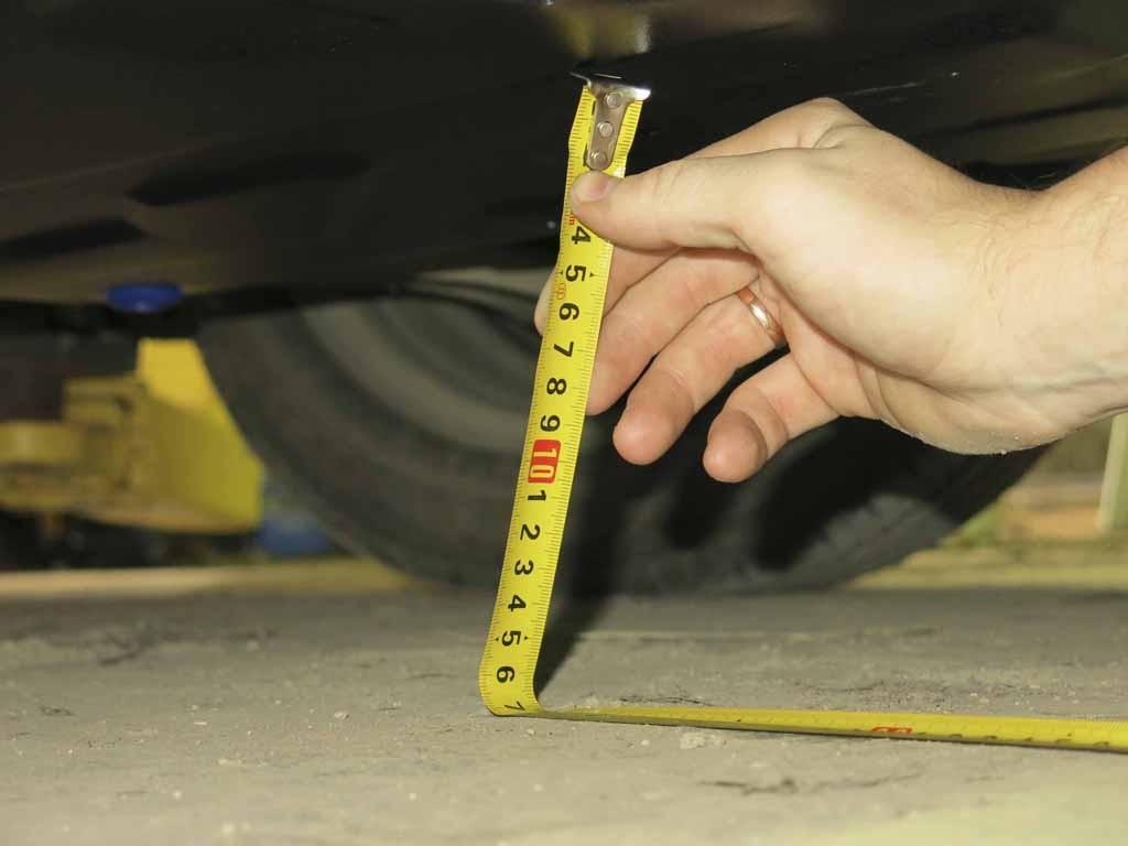 Измерение клиренса автомобиля